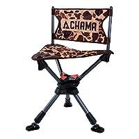 茶魔椅子all-terrain 360°回転ハンティング/キャンプチェアwith ever-level Telescoping脚