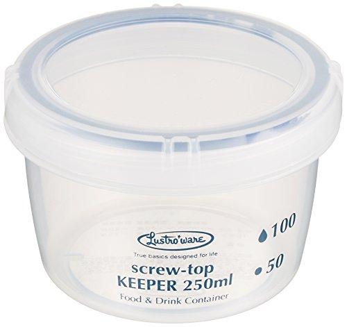 岩崎 食品保存容器 クイック開閉 スクリュートップキーパー 250浅型 抗菌 B-2270KN