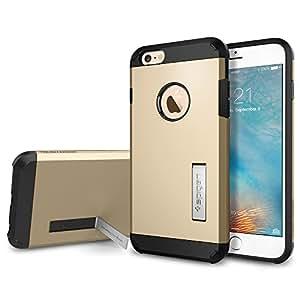 【Spigen】 iPhone6s Plus ケース / iPhone6 Plus ケース, タフ・アーマー [エアクッションテクノロジー] アイフォン6s プラス / 6 プラス 用 米軍MIL規格取得 耐衝撃カバー (シャンパン・ゴールド SGP11659)
