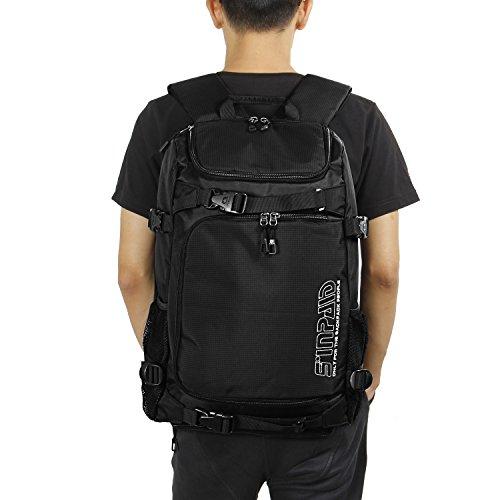 【Lifewit】 クラブライン バックパック iPad 収納 テニス バトミントン ラケット 2本収納 スポーツバッグ バッグパック 防水 カジュアル 靴収納可 ブラック