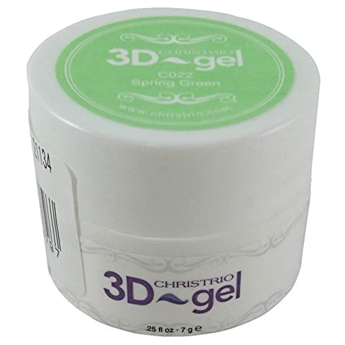 サイト無心超音速CHRISTRIO 3Dジェル 7g C022 スプリンググリーン