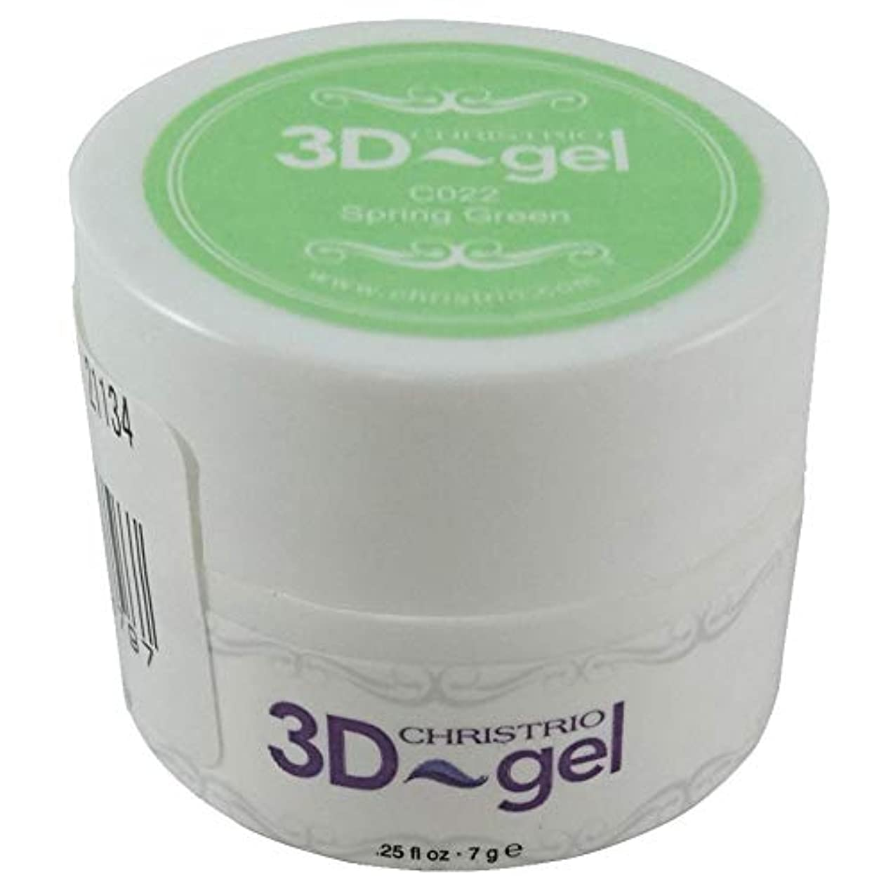 暴露するトラップケイ素CHRISTRIO 3Dジェル 7g C022 スプリンググリーン