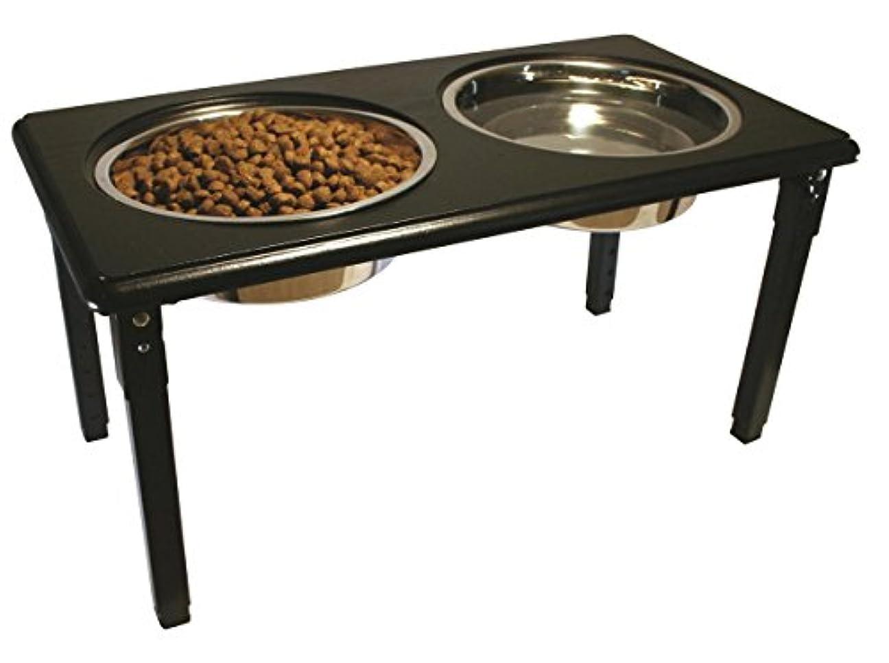 Ethical Pet POSTURE-PRO Adjustable Double Diner, Black, 3-Quart Other ブラック 犬