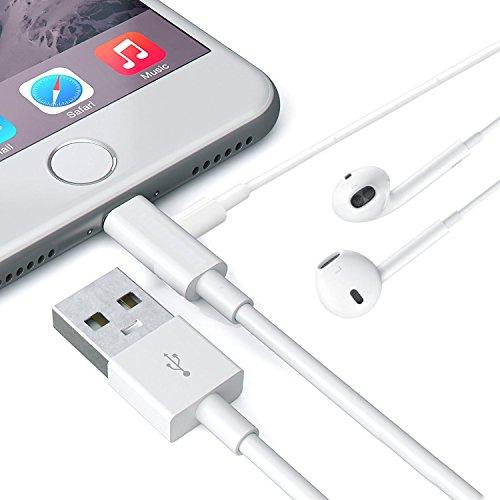 楽真 イヤホン変換ケーブル 充電ケーブルLightningポート iPhone X/8/7/Plus用 IOS10.3-11対応 充電 通...