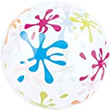 wangten ビーチボール 透明ビーチボール 丸い透明 パネルボール インフレータブル ハンドボール おもちゃボール 子供と大人 弾力ボール 海 風呂 外 子供 大人 夏 遊び
