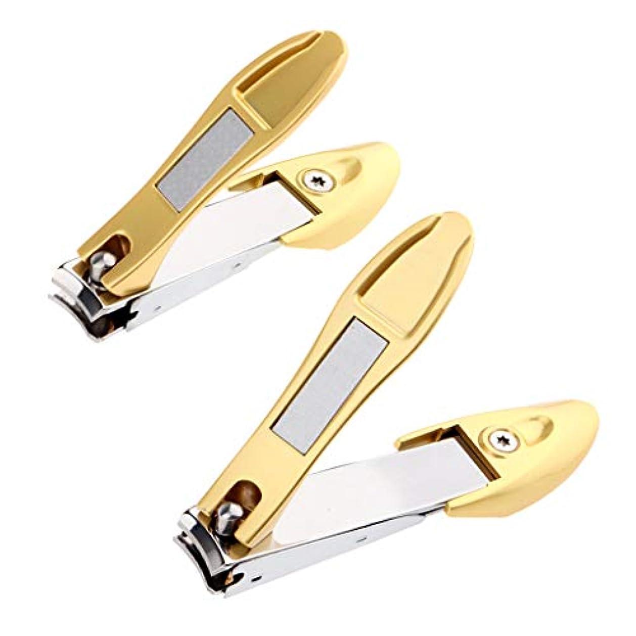 引退する理想的造船CUTICATE 爪切り つめきり ステンレス製 厚い爪/巻き爪 に最適切れ 飛び散り防止 携帯便利 2個入り