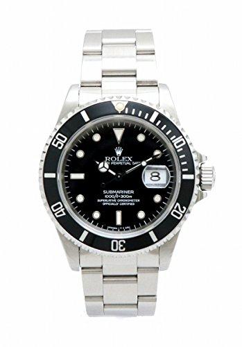 [ロレックス] ROLEX サブマリーナ デイト ブラック文字盤 SS T番 メンズ AT オートマ 腕時計 16610