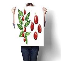 キャンバスプリント アートワーク バクテリア細胞 油絵 キャンバスウォールアート ホームデコレーション (フレームなし) 16 x 28inch(40x70cm)/1pc