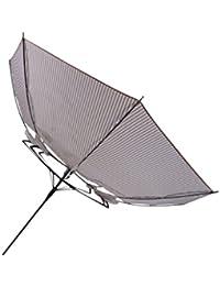 丈夫な傘 レディース ジャンプ式 長傘 58cm 耐風傘 ストライプ柄