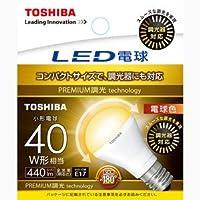 東芝ライテック LED電球 ミニクリプトン形 広配光タイプ 調光器対応 40W 電球色 LDA5L-G-E17/S/D40W