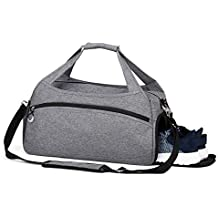 Rimposky Sports Bag,Gym Bag with Shoes Compartment,Travel Duffel Bag for Men and Women(Small Gray)