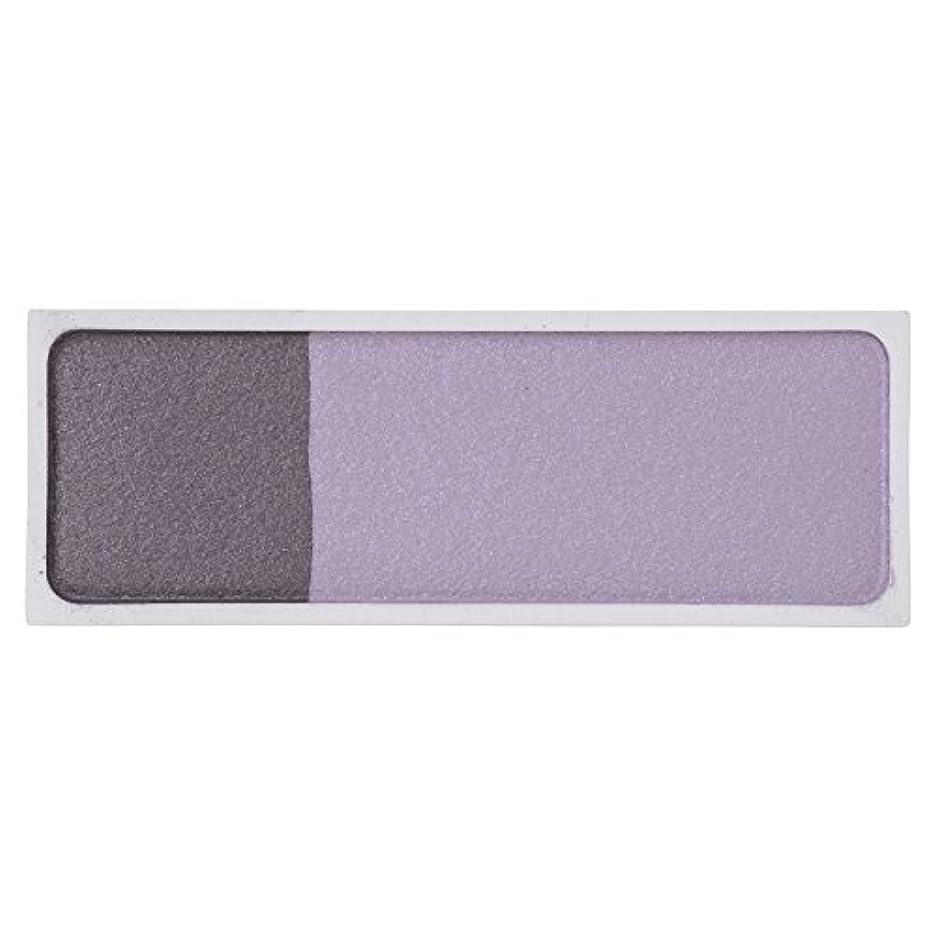 値する測定ロッカーMAMEW(マミュ) カラーコレクション2H-アイシャドウ 2色入り パープル