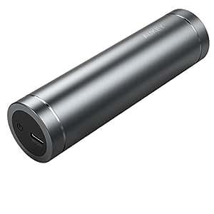 AUKEY 5000mAh モバイルバッテリー USB Type-C 入力/出力 USB充電器 小型 軽量 スマホ充電器 スマート急速充電 Nexus 6P / 5X LG G5など対応 グレー PB-Y8