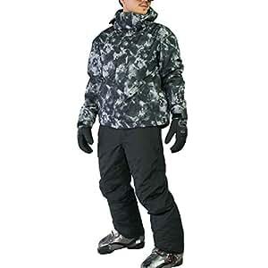 VAXPOT(バックスポット) スキーウェア 上下セット メンズ 【耐水圧5000mm 透湿3000g 撥水加工】 VA-2016 SL-BLK/BLK M(男性用M)