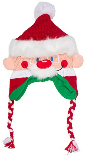 AbGクリスマスサンタクロース、トナカイ、エルフ、と雪だるま冬文字帽子