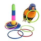 HUYYU ペット用品 鳥用品 輪投げ おもちゃ インコ ストレス解消 ペット用おもちゃ