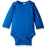 Rabbit Skins 100% Cotton Infant Baby Long Sleeve Bodysuit Long Sleeve Royal NB [並行輸入品]