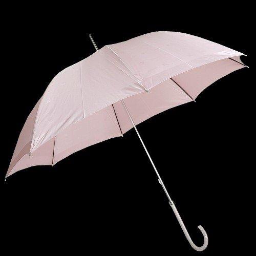 【BURBERRY】バーバリー 日本製 ブランドロゴ×ホースマーク 婦人長傘(雨傘) ピンク