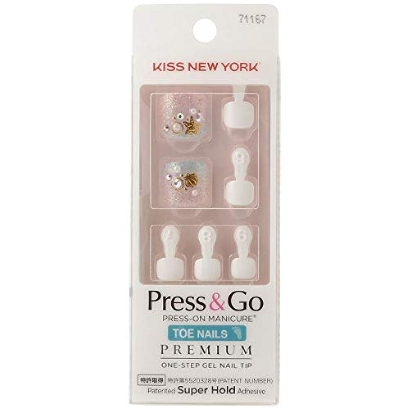 傷つける希少性良性キスニューヨーク (KISS NEW YORK) KISS NEWYORK フットネイルチップPress&Go BHJT08J 18g