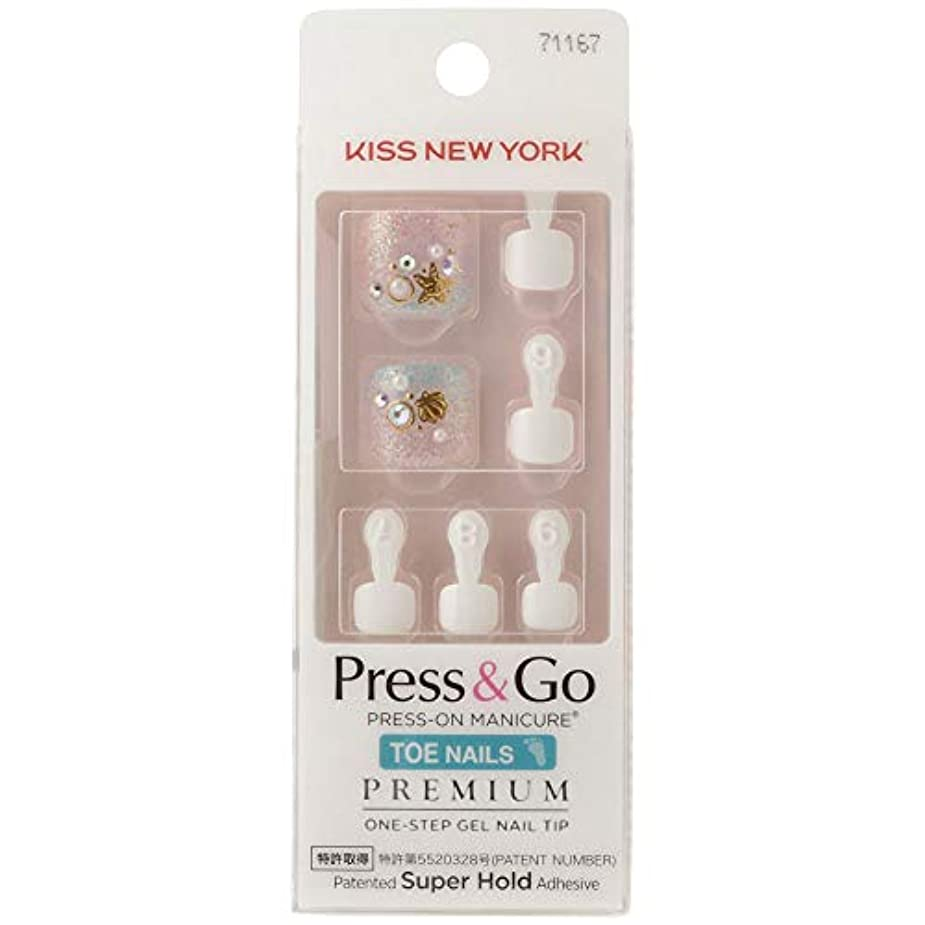 乳製品赤面チャットキスニューヨーク (KISS NEW YORK) KISS NEWYORK フットネイルチップPress&Go BHJT08J 18g