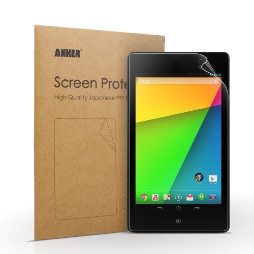 Anker Nexus 7(2013) タブレット用 2枚セット 液晶保護フィルム 高精細度 光沢仕上げ 日本産のPET素材使用 汚れ・シミ防止加工