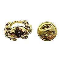 Dungeness crabミニピン~ 24Kゴールド~ミニチュアラペルピン~サラのTreats & Treasures
