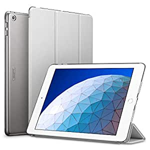 ESR iPad Air 2019 ケース iPad Air3 10.5インチ カバー 軽量 薄型 レザー オートスリープ機能 三つ折りスタンド スマートカバー 2019年発売の10.5インチ iPad 対応(グレー)