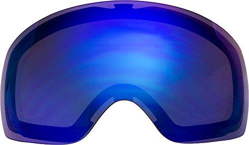自社製 オークリー FLIGHT DECK XM ゴーグル用交換レンズ BLUE MIRROR
