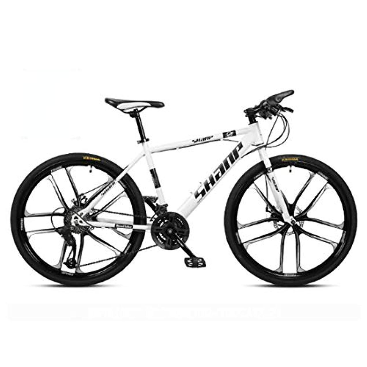 ウェイドトレッド構造的61.5インチのマウンテンバイク21スピード/ 24速度/ 27速度/ 30スピードマウンテンバイク24インチホイール自転車、ブラック、ホワイト、レッド、イエロー、グリーン,B3,24
