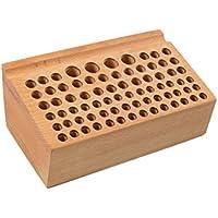 Perfk 手縫い レザーパンチ 76穴 ホルダー スタンド 木製 DIY クラフト