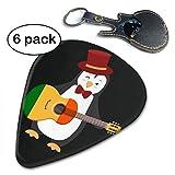 ピック ギターピック ティアドロップ ピック JAZZ タイプ 赤ちゃん ペンギン ギター 収納ケース セット トライアングル セルロイド スムーズ 弦楽器 6枚