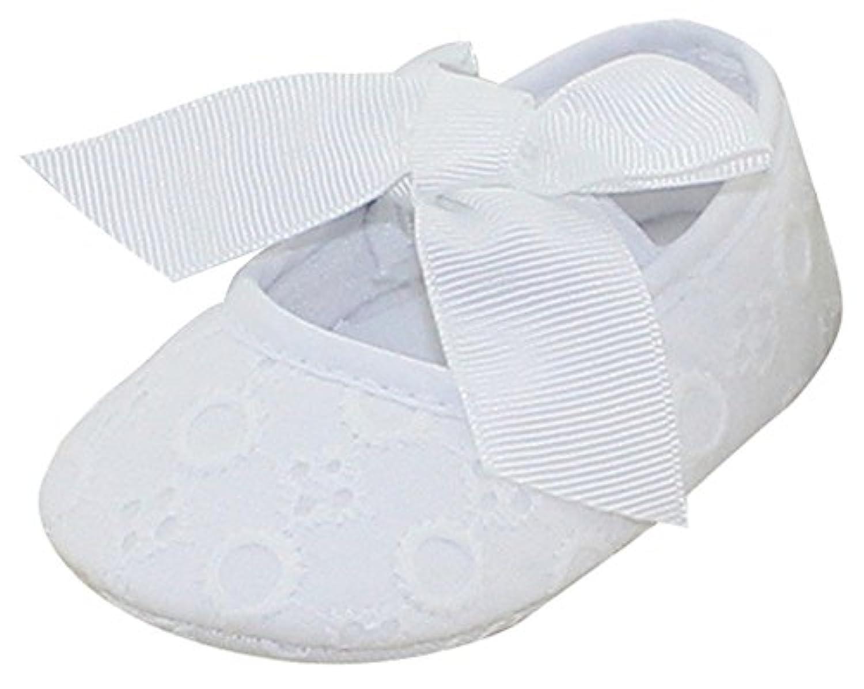 ベビーシューズ 赤ちゃん靴 ファーストシューズ 女の子 白 保育園 新生児 オシャレ 歩く練習 出産祝い 初めての靴に プレゼント リボン 可愛い 軽量 11cm 12cm 13cm