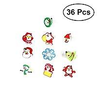 HEALIFTY 子供のための柔らかいゴム(ランダムなスタイル)36pcsクリスマス指輪のリングのおもちゃのパーティーは、