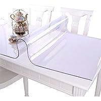 EGROON PVC テーブルクロス 透明 テーブルマット テーブルクロス デスクマット 透明 厚さ1.5mm 長方形 撥水加工 耐久 汚れつきにくい