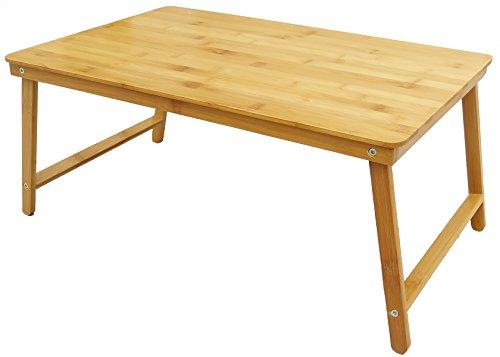 ForeverNiu 折り畳みちゃぶ台 天然竹製 折りたたみテーブル ベッドテーブル ミニテーブル ローテーブル バンブー テーブル ピクニックテーブル  机 つくえ 省スペース (長60cm×幅38cm)