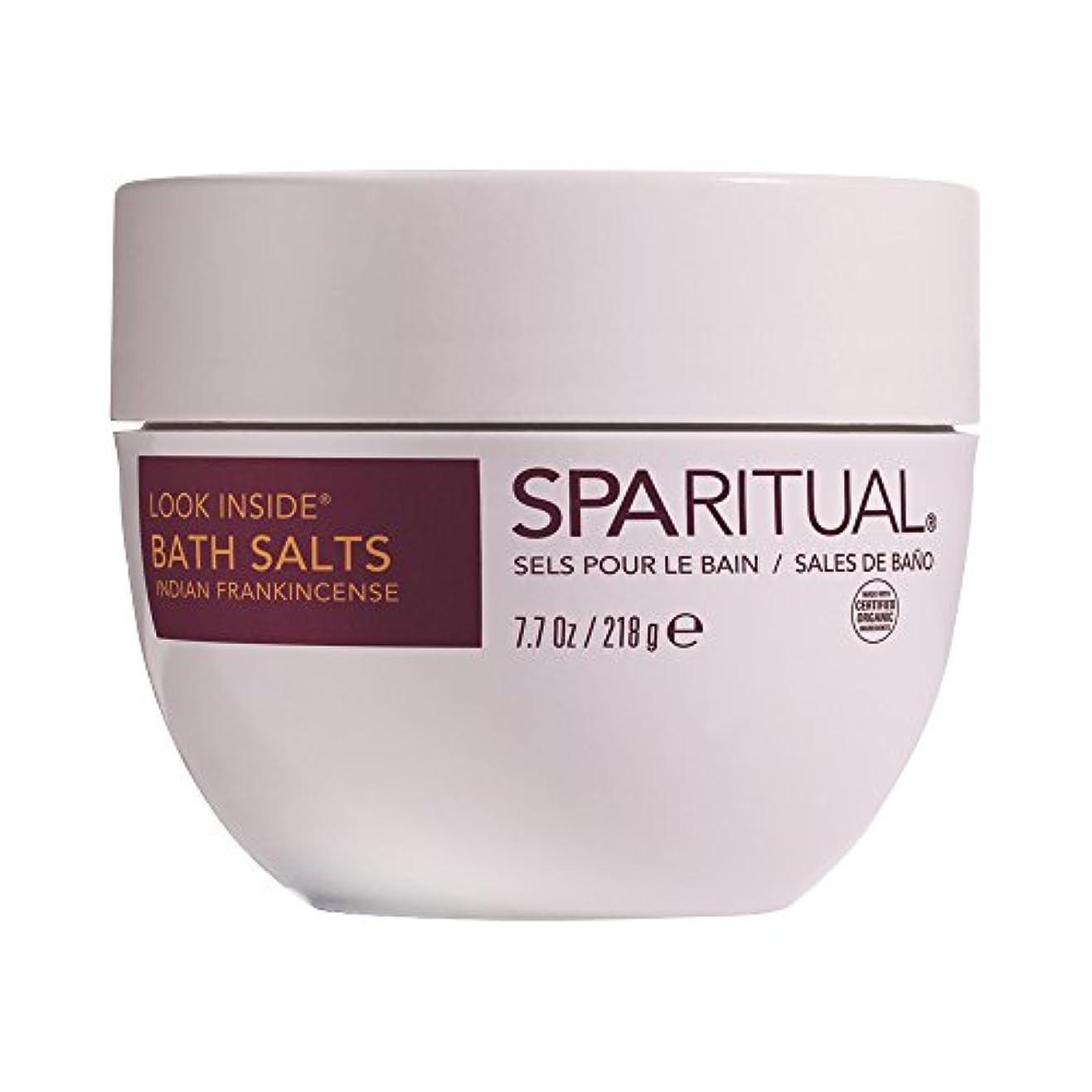 SPARITUAL(スパリチュアル) ルックインサイド オーガニック バスソルト 218g (フランキンセンスの香り)