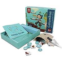 子供用 ボードゲーム おもちゃ コロンビア発見 世界のゲーム論理ゲームとSTEM玩具 男の子と女の子用 対象年齢6歳以上 磁気玩具 誕生日ギフト