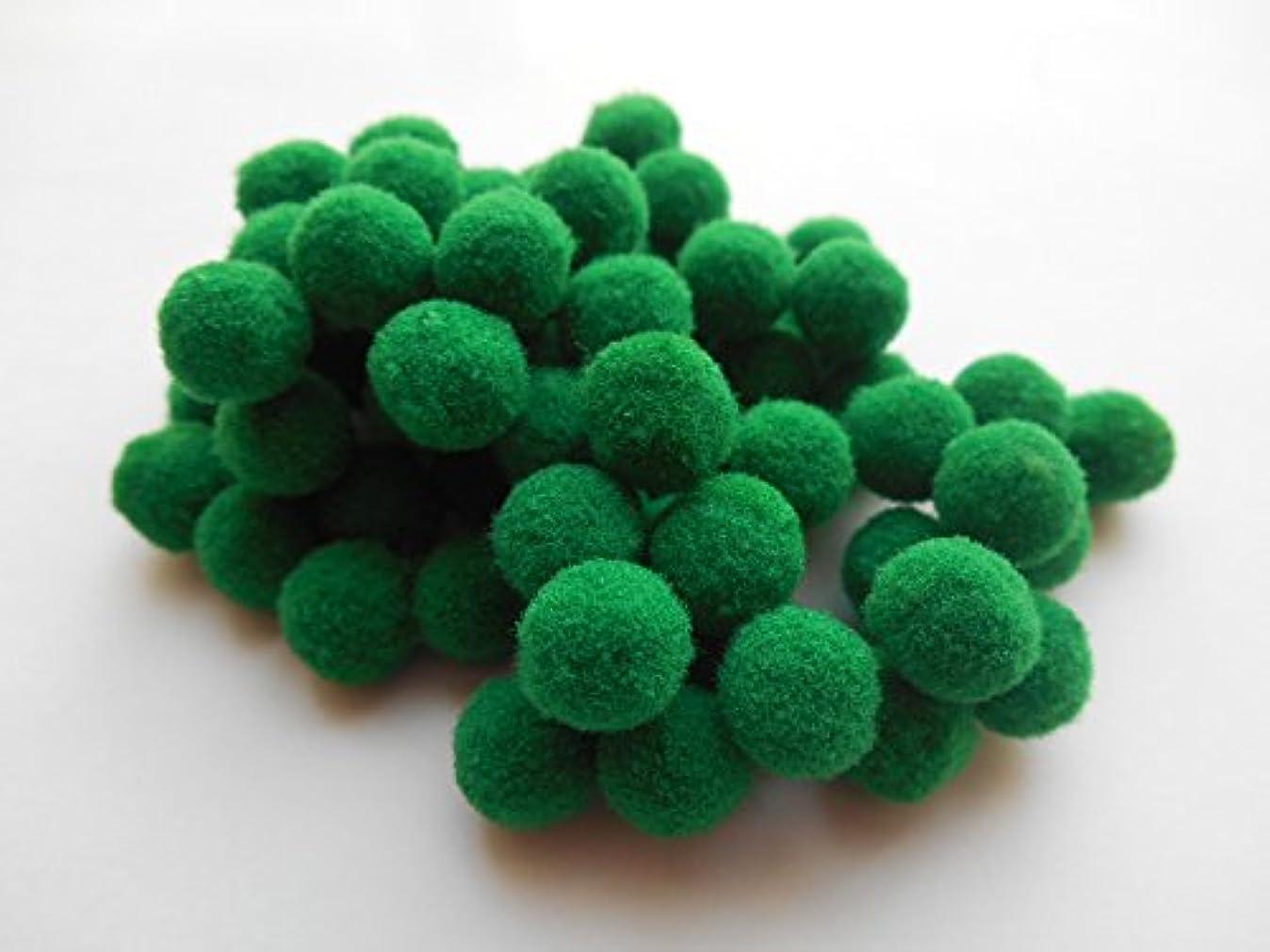 内部グループ迷信ボンボン1cm 緑 グリーン 100個 ボンテン 手芸 マスコット ポンポン