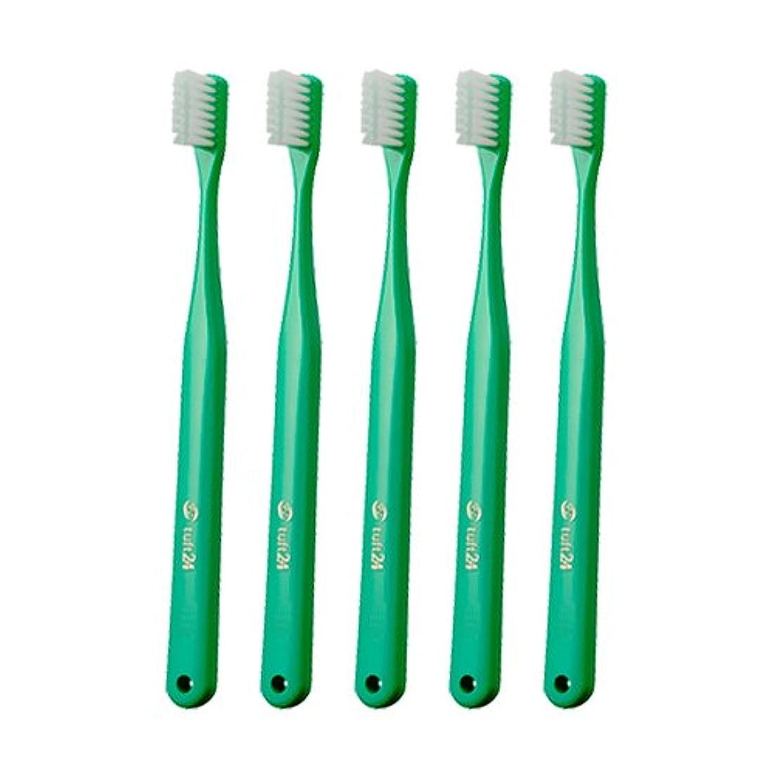 効果メロディアススペースキャップなし タフト24 歯ブラシ × 25本入 M グリーン