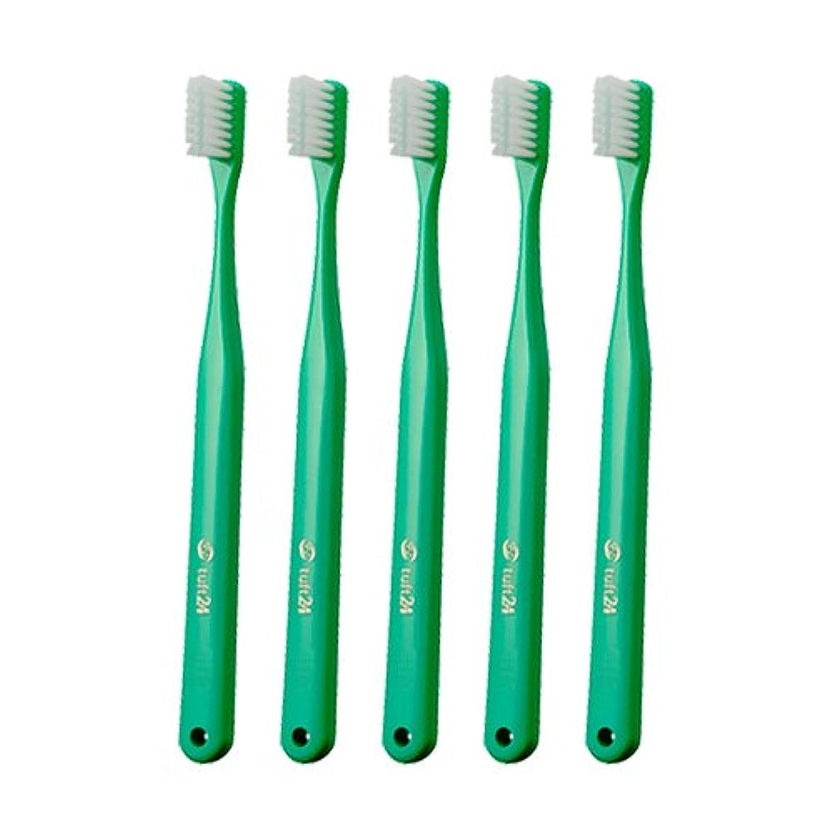 バンクカブ多くの危険がある状況キャップなし タフト24 歯ブラシ × 25本入 M グリーン
