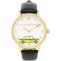 [ケイトスペード] 腕時計 レディース KATE SPADE KSW1346 ブラック イエローゴールド ホワイトパール [並行輸入品]