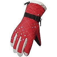 厚手の防風スポーツグローブ冬のサイクリングスキーグローブ、ウェーブポイントパターン