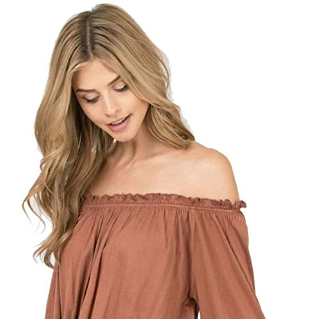 個人カーペットジャベスウィルソン女性かつら150%高密度合成ロングウェーブウィッグ合成耐熱性安いミドルパートウィッグ65cm