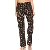 Leggings Depot Women's Popular Comfortable Casual Solid and Print Pajama Lounge Pants