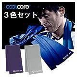 クールコア3色組(COOL CORE) KING-KAZU公認スーパークーリングタオル (ブルー・グレー・パープル)