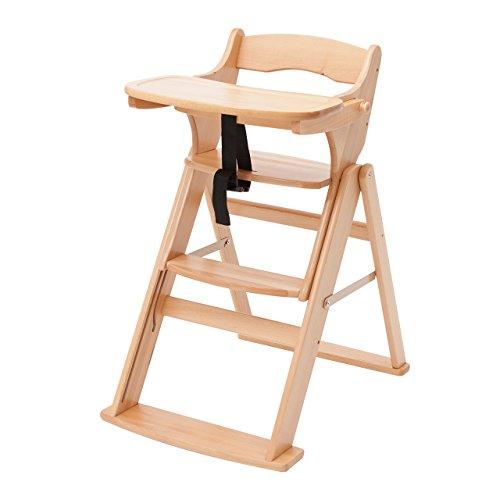 日本育児 木製スマート ハイローチェア テーブルの高さに合わせて選べる高さ4段階
