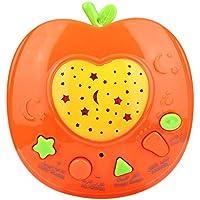赤ちゃん おもちゃ 音楽玩具 投射ライト アラビア語 初期教育 ラーニング ストーリー テラー マシン 誕生日 ギフト 子供(オレンジ)