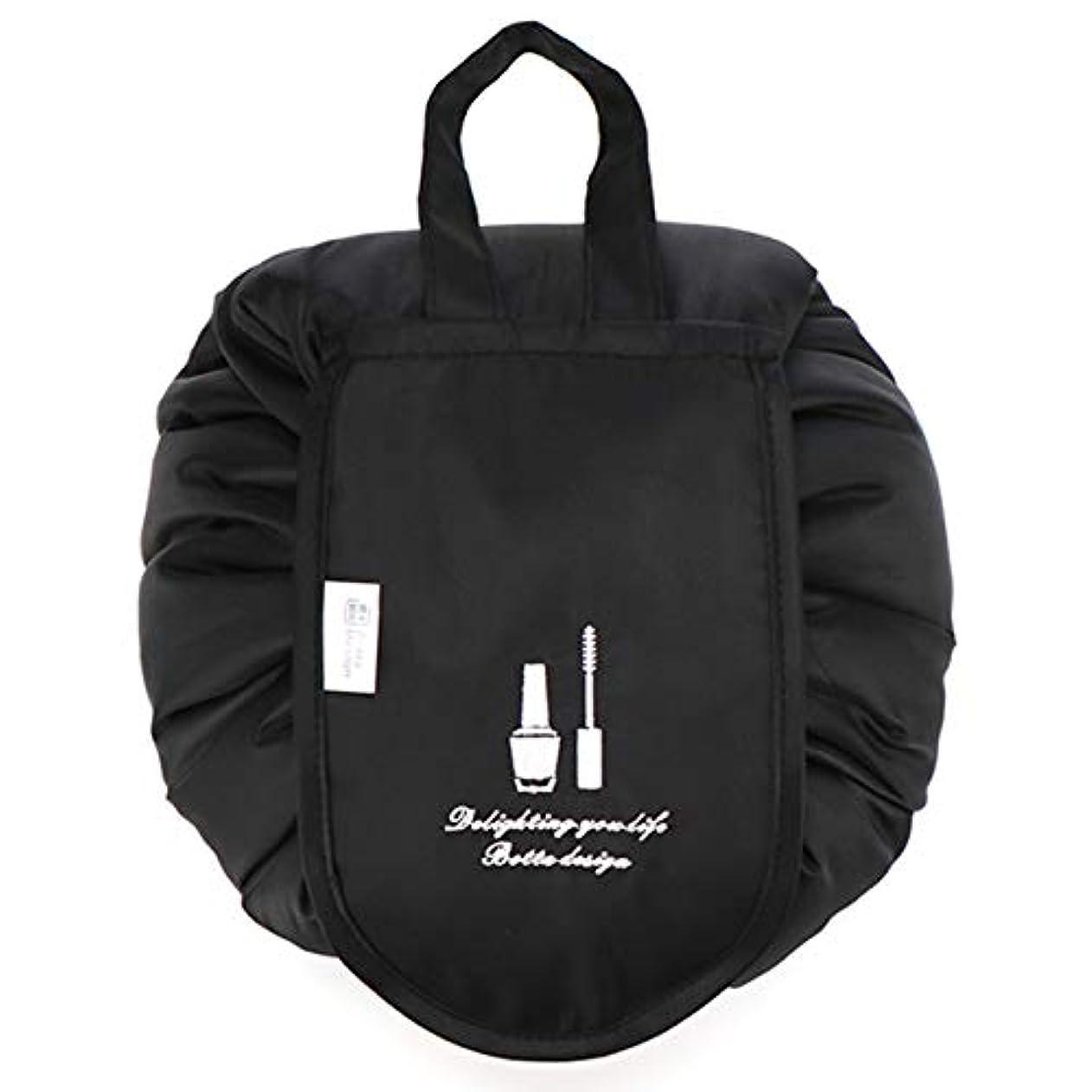 セメント自動的に戻す化粧ポーチ トイレタリーバッグ トラベルポーチ メイクポーチ ミニ 財布 機能的 大容量 化粧品収納 小物入れ 普段使い 出張 旅行 メイク ブラシ バッグ 化粧バッグ