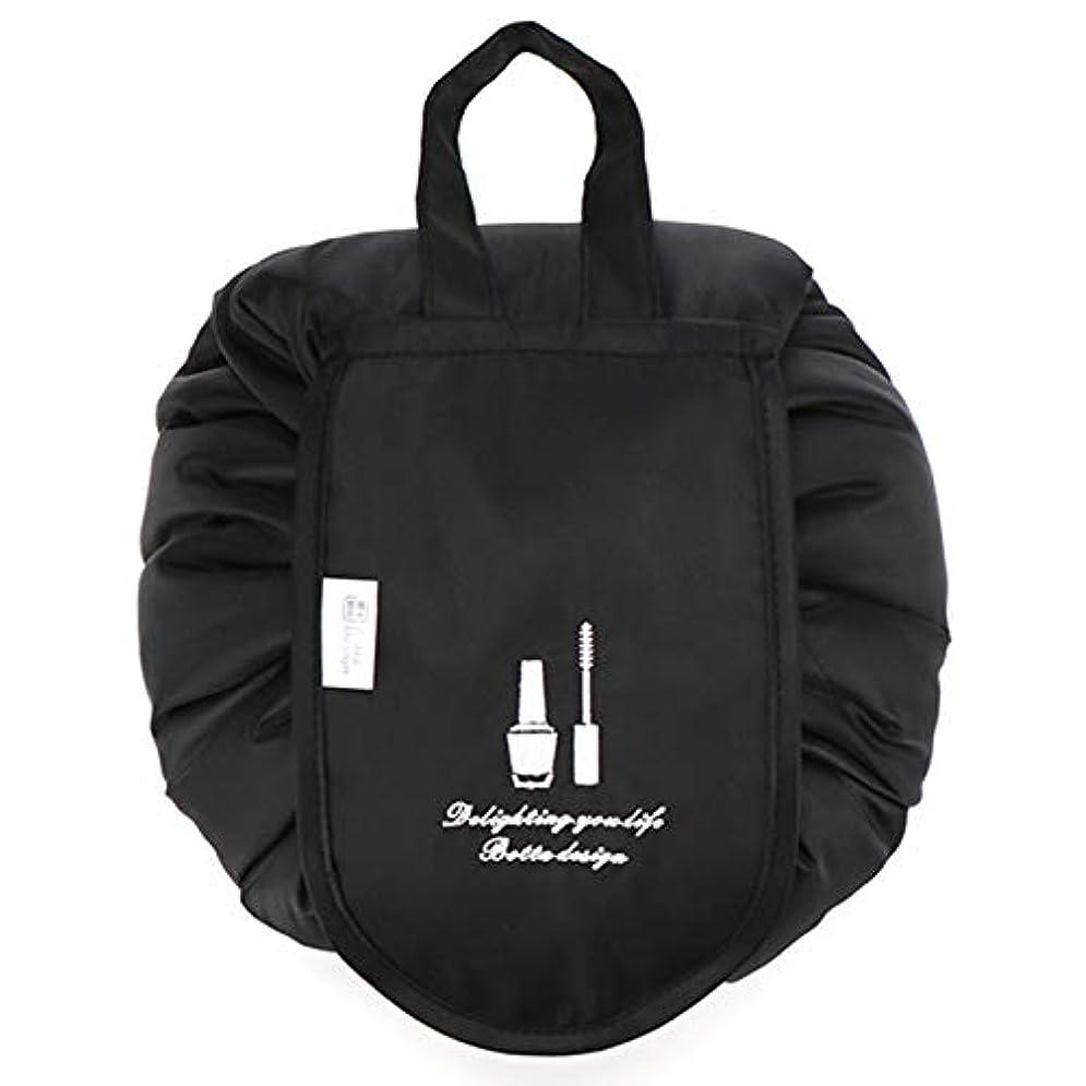 努力する交差点ヘルパー化粧ポーチ トイレタリーバッグ トラベルポーチ メイクポーチ ミニ 財布 機能的 大容量 化粧品収納 小物入れ 普段使い 出張 旅行 メイク ブラシ バッグ 化粧バッグ