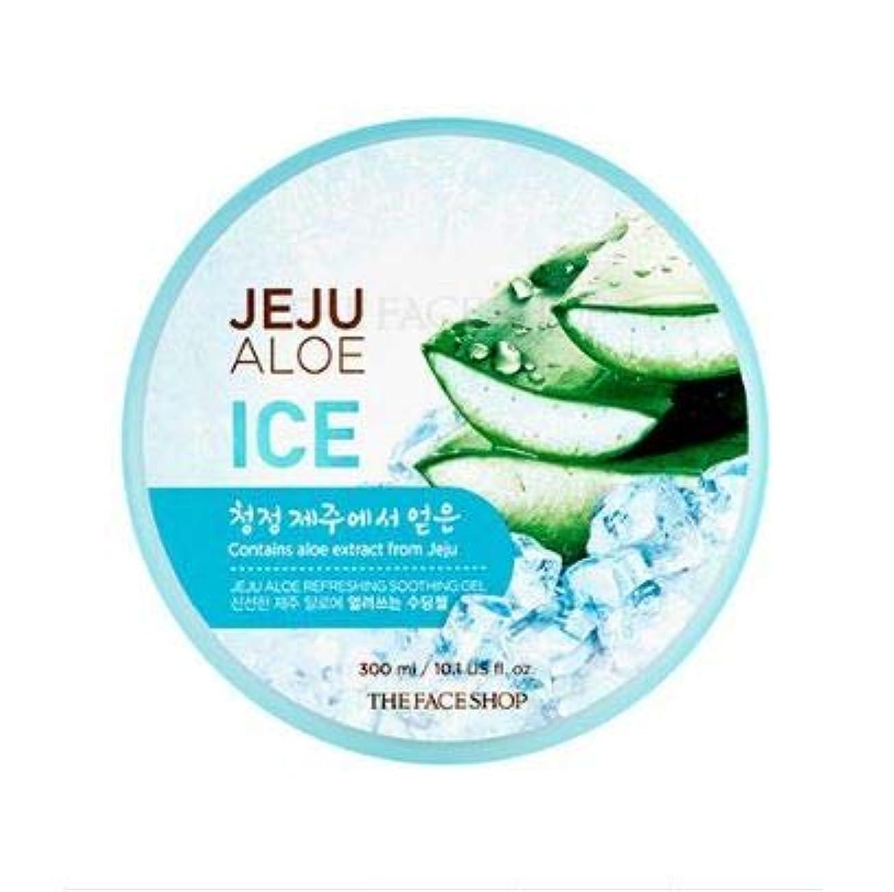 泥沼ぼかす治世ザフェイスショップ 済州 アロエ リフレッシング スージング ジェル 300ml / THE FACE SHOP Jeju Aloe Refreshing Soothing Gel 300ml [並行輸入品]